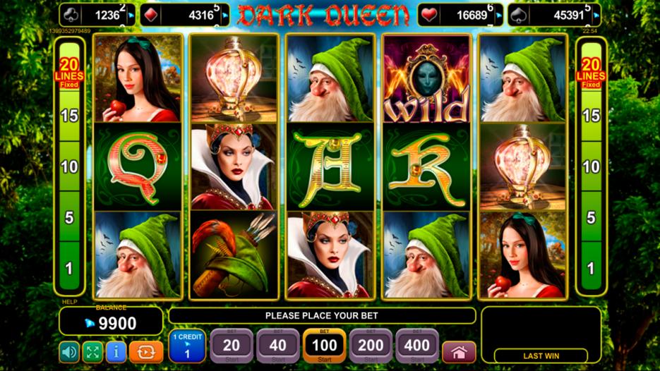 Видео слот Dark Queen — игровые автоматы вулкан удачи