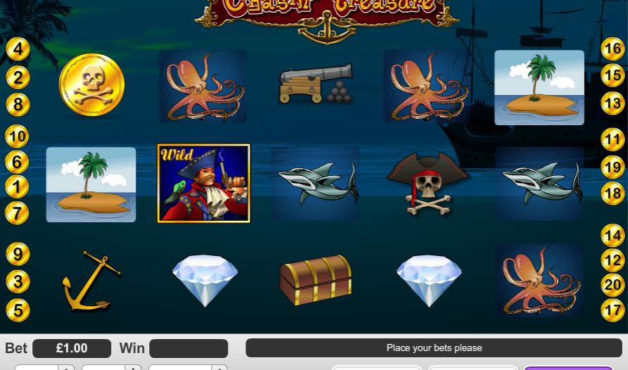 Игровой аппарат Chasin' Treasure — играй на деньги без регистрации