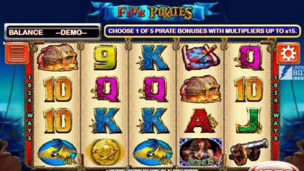 Игровой автомат Five Pirates — играй в казино в слоты 777