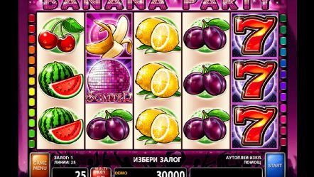 Онлайн-слот Banana Party — тебя ждет фруктовый джекпот