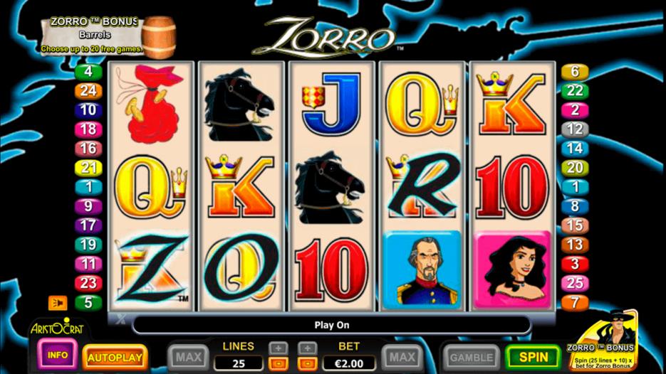 Видео слот Zorro — играть бесплатно в новые игровые автоматы онлайн