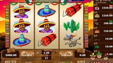 Игровой автомат Three Amigos — играй в казино на деньги