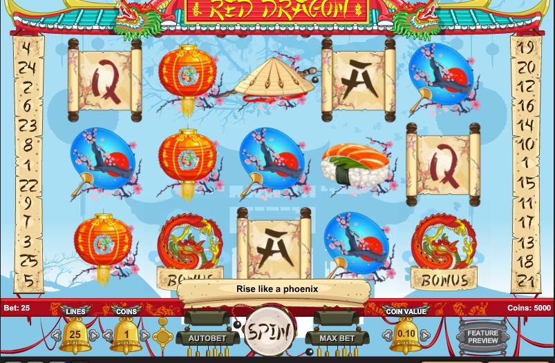Игровой автомат Red Dragon — онлайн-казино