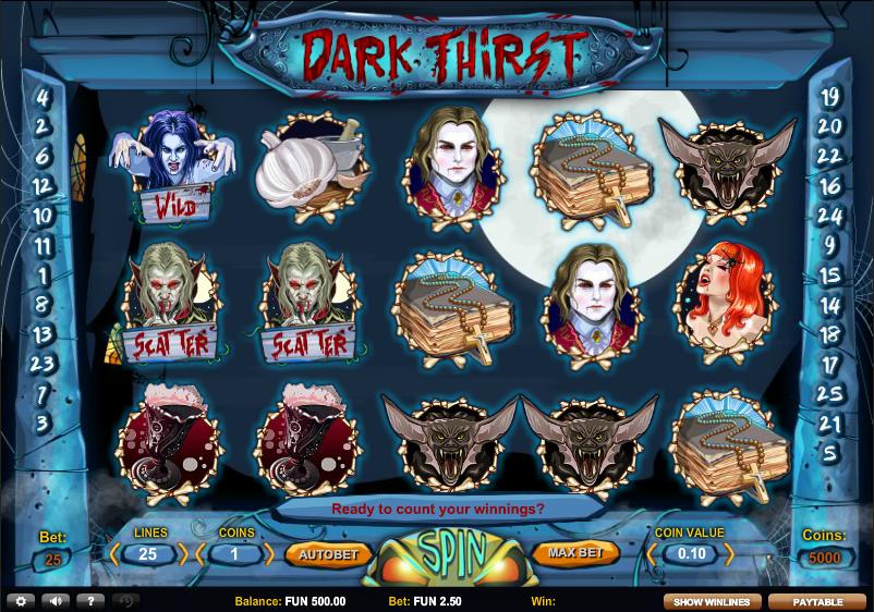 Dark thirst темная жажда игровой автомат магазин