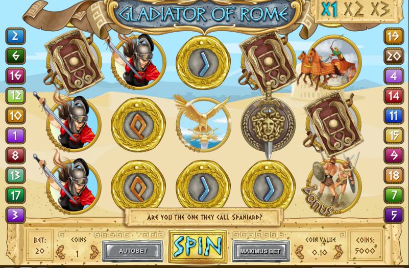Слот Gladiator of Rome – наследие римских цезарей