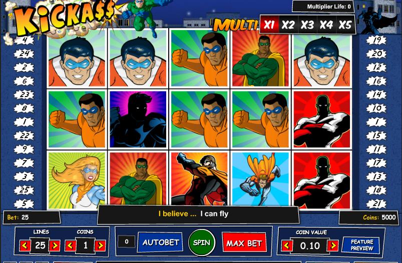 Игровой автомат Kick Ass-игровые аппараты онлайн без регистрации