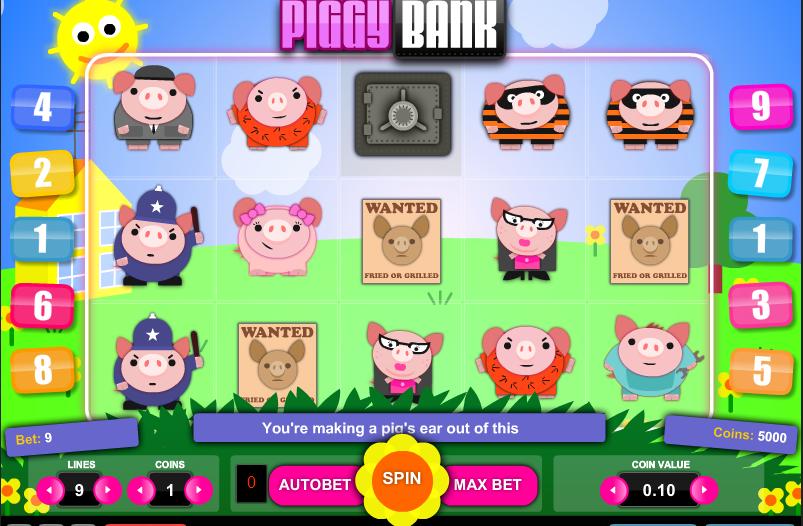 Бесплатный видео слот Piggy Bank-новые игровые автоматы без регистрации