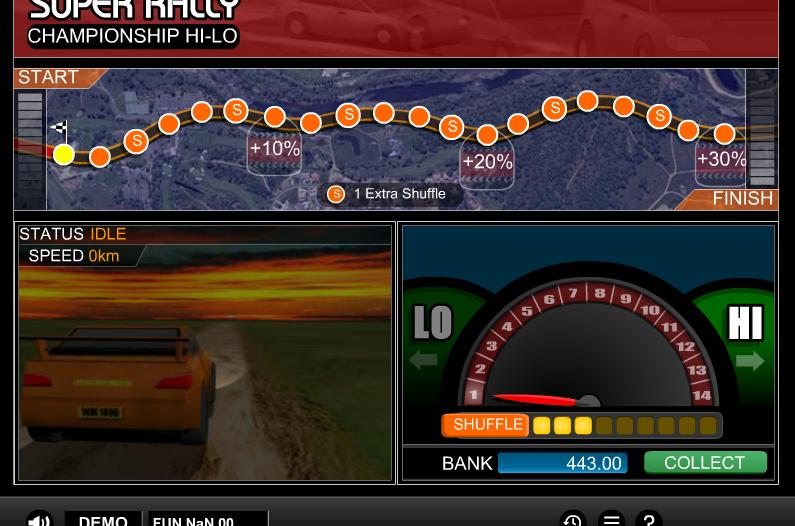 Видео слот Rally Hi-lo-игра от игровых автоматов 777