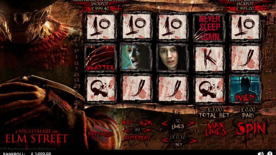 Игровой автомат A Nightmare On Elm Street–играть без денег и без регистрации