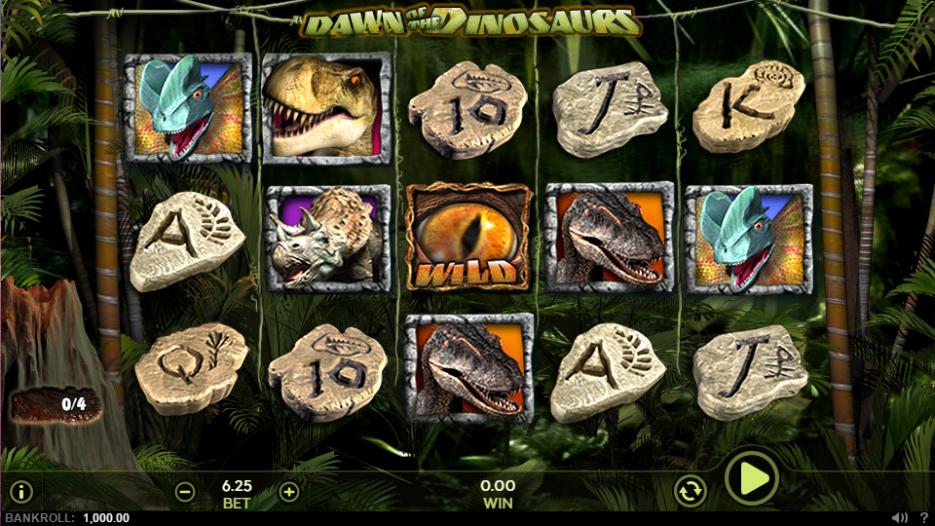 Игровой автомат Dawn of the Dinosaurs-играть в онлайн казино без регистрации