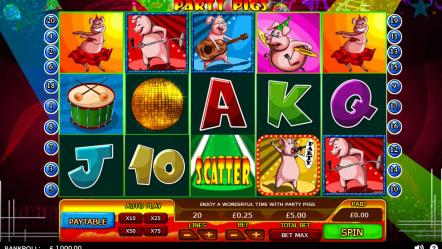 Игровой автомат Party Pigs-бесплатно играть на телефоне