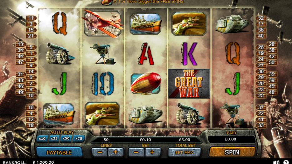 Видео слот The Great War-новые бесплатные игровые автоматы